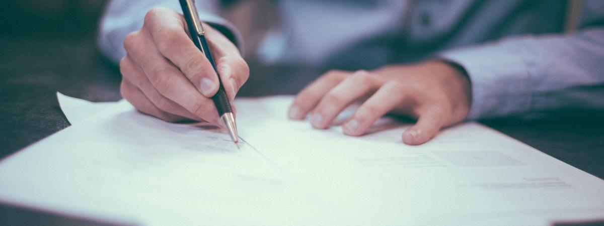 ondertekenen document