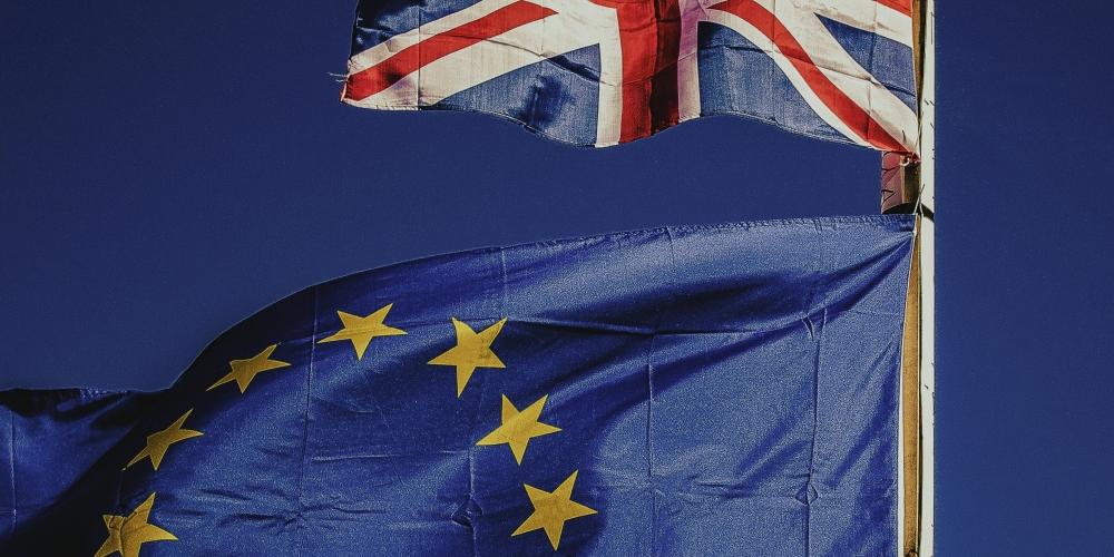 vlaggen europa en uk